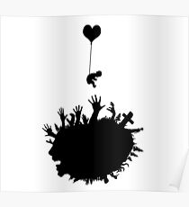 Baby - Balloon - Zombies Poster