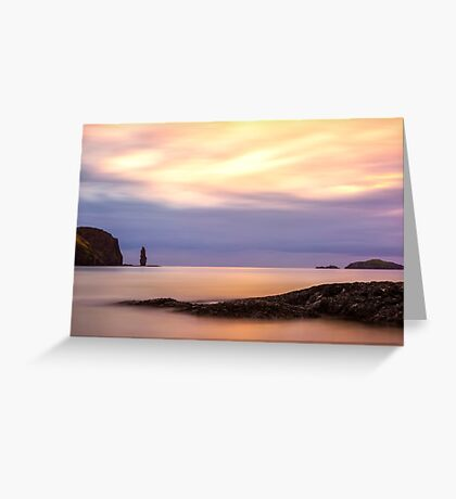 Sandwood Bay Sunset Greeting Card