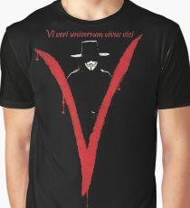 "V for Vendetta ""Vi veri universum vivus vici"" Graphic T-Shirt"