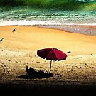 Red Umbrella by Terri~Lynn Bealle