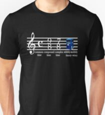 dr.who music notation time T-Shirt