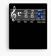 dr.who music notation time Canvas Print