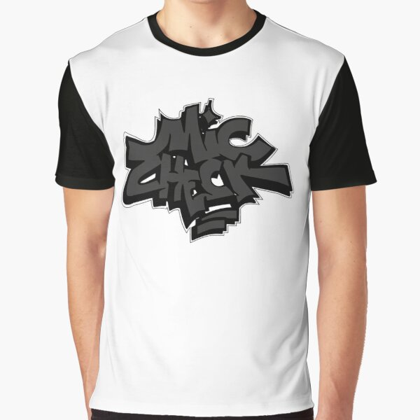 Mic Check (Charcoal Gray)  Graphic T-Shirt
