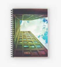 Look Up! Its Summer in the city Spiral Notebook