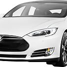 Tesla Model S electric car photo print by ArtNudePhotos