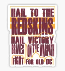 Redskins - Fight Song Sticker