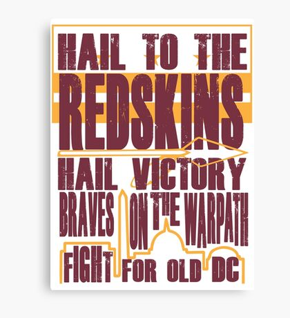Redskins - Fight Song Canvas Print