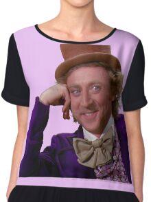 Condescending Wonka Chiffon Top