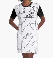 Del Toro- Twisted Graphic T-Shirt Dress