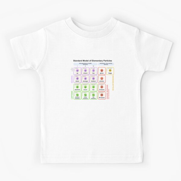 Standard Model Higgs Boson Particle Physics Student Gift Outline Kids T-Shirt