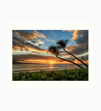 Sunset In Kaanapali Art Print
