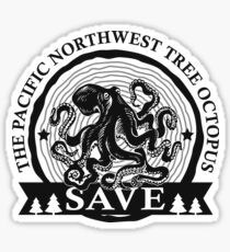 Pegatina Guarde el pulpo del árbol del noroeste pacífico