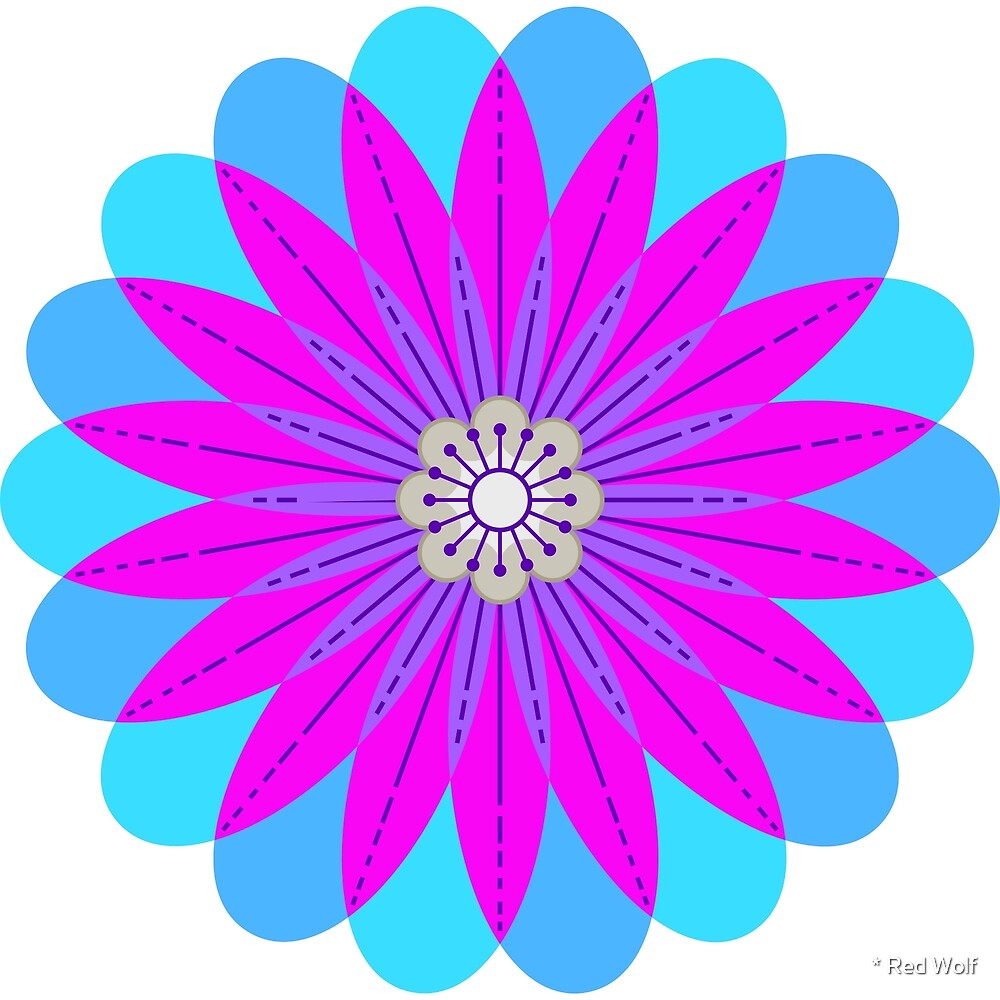 Flower Pattern: Daisy Chain: Peacock by * Red Wolf