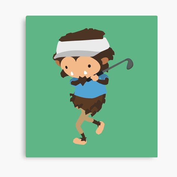 Sneaky Sasquatch bigfoot golf Canvas Print
