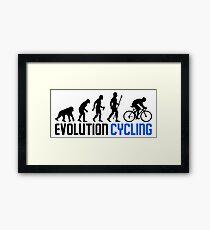 Evolution Cycling Framed Print