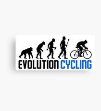 Evolution Cycling Canvas Print