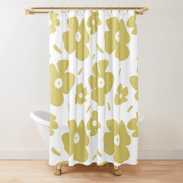 nahtloses Muster im Marimekko-Stil Duschvorhang