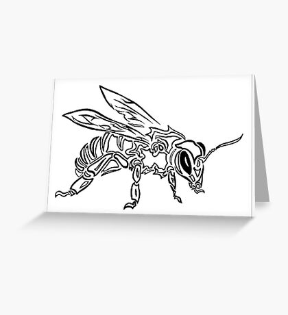 """""""Bee Spirit"""" ver.1 - Surreal abstract tribal bee totem animal Greeting Card"""
