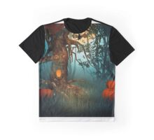 Scary Forest Halloween Graphic T-Shirt