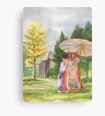 Little Shifu and Tiger Canvas Print