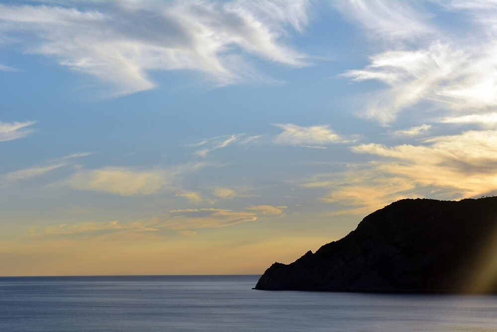 Sunset at the sea in Vernazza. by oanaunciuleanu