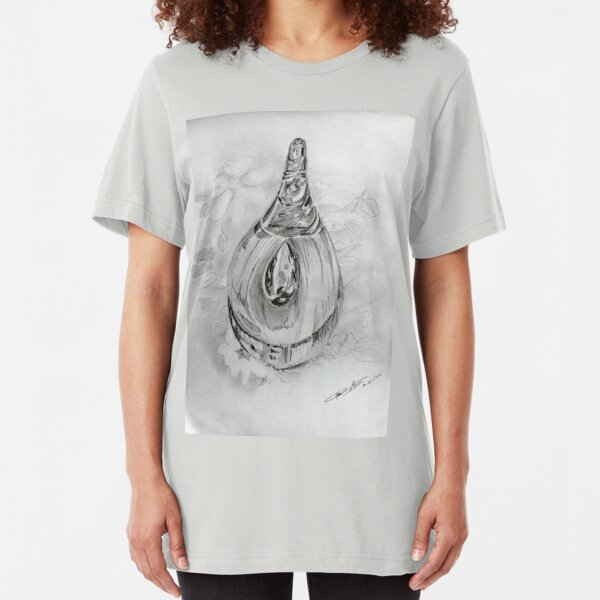 Teardrop on the table Slim Fit T-Shirt