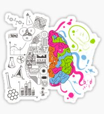 Analytical and Creative Brain Sticker