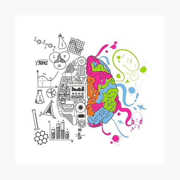 Analytical and Creative Brain Photographic Print