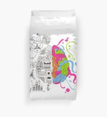 Analytical and Creative Brain Duvet Cover