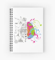 Analytical and Creative Brain Spiral Notebook