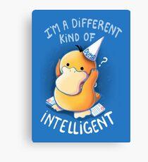 Dumb but Intelligent Canvas Print