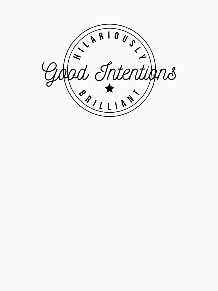 Good Intentions Hilariously Brilliant Logo Design by RebsRein