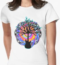 """Psychedelic Sonic Cyclone""   ( surreal guitar tree art) Women's Fitted T-Shirt"
