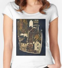 Egon Schiele - Dead City III (City on the Blue River III) (1911)  Women's Fitted Scoop T-Shirt