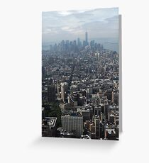 New York Rooftops Greeting Card