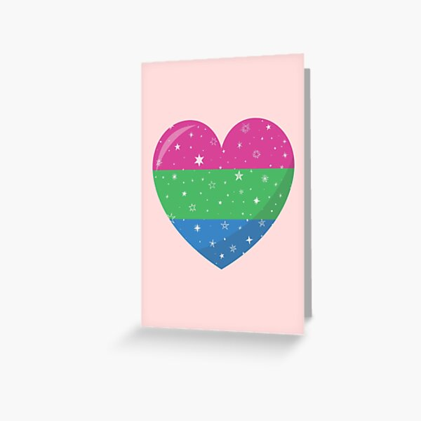 Sparkling Polysexual Heart Greeting Card