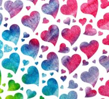 Tie-Dye Hearts Sticker