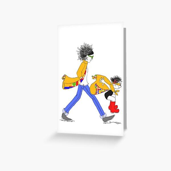 Chanel Girls Card Greeting Card