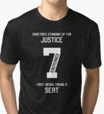 Taking a Seat for Justice Tri-blend T-Shirt