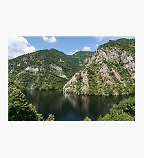 Rough Limestone - a Peaceful Lake in the Mountains Photographic Print