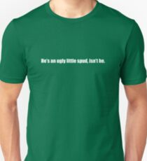 Ghostbusters - He's An Ugly Little Spud - White Font Slim Fit T-Shirt