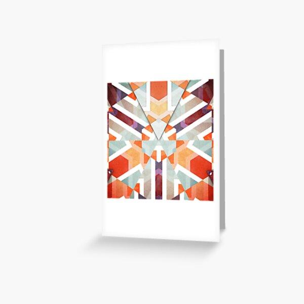 Orange Geometric Abstract Greeting Card