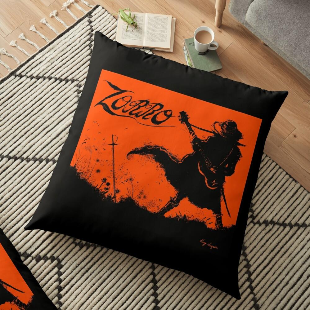 Zorro Guitarra Floor Pillow