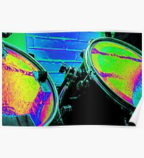 Rainbow Drums Poster