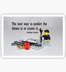 """The best way to predict the future is to create it"" Sticker"