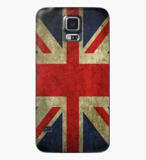 Antique Faded Union Jack UK British Flag Case/Skin for Samsung Galaxy