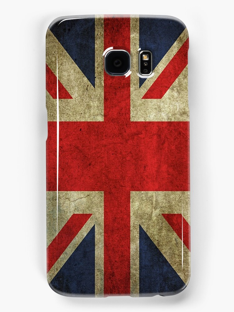 Antique Faded Union Jack UK British Flag by frogcreek
