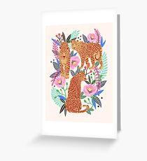 Leopard Idea, leopard print, animal print, flower print Greeting Card