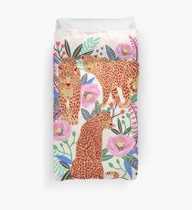 Leopard Idea, leopard print, animal print, flower print Duvet Cover