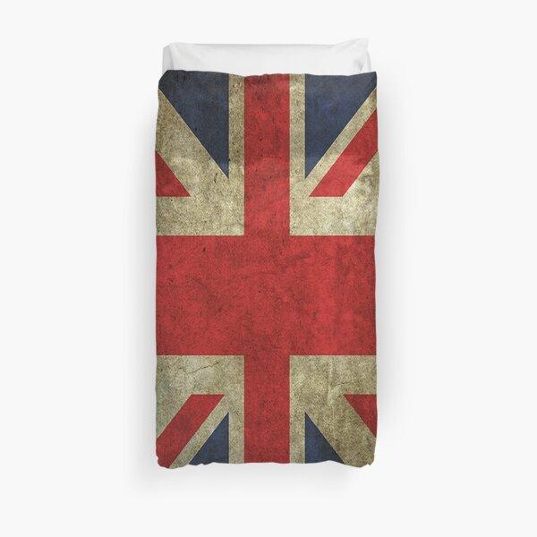 Antique Faded Union Jack UK British Flag Duvet Cover
